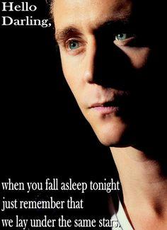 Tom Hiddleston. Hello Darling- Stars