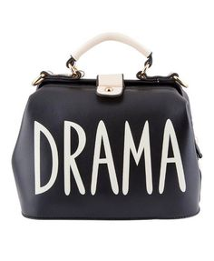 "Schwarze ""DRAMA"" Bag Online Fashion, Drama, Fall Winter, Shoulder Bag, Bags, Black, Purses, Shoulder Bags, Taschen"