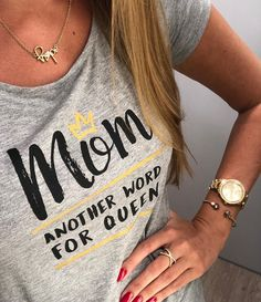 Exactly one month until Mothers Day If you had to describe your mom in one wo - Funny Mom Shirts - Ideas of Funny Mom Shirts - Exactly one month until Mothers Day If you had to describe your mom in one word what would it be? Cute Tshirts, Mom Shirts, T Shirts For Women, Mom Outfits, Cute Outfits, Fashion Outfits, Rodeo Outfits, Homemade Shirts, Mothers Day Shirts