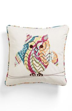 Levtex 'Magnolia Owl' Pillow Pinned by www.myowlbarn.com