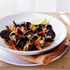 Mussels with Red Pep
