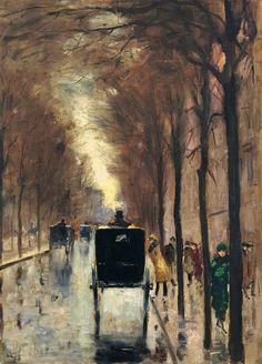 Berlin Street Scene, 1920, Lesser Ury. Germany (1861 - 1931)