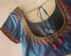 Photo by missblouses on July Image may contain: shoes, possible text that says 'Niaa' Cutwork Blouse Designs, Pattu Saree Blouse Designs, Simple Blouse Designs, Stylish Blouse Design, Bridal Blouse Designs, Blouse Neck Designs, Blouse Patterns, Lehenga Blouse, Simple Designs