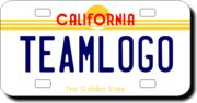 Personalized California License Plate for Bicycles, Kid's Bikes, Carts, Cars or Trucks Version 2 Monster Truck Birthday, Monster Trucks, California License, Kids Bike, Custom Bikes, Custom Design, Plates, Bicycles