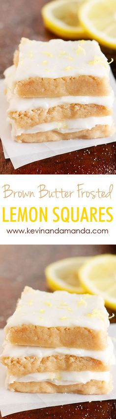 EASY & SIMPLE to Make ~ SO soft and amazing! The perfect amount of sweet and tart! I made these for a party and these disappeared off the plate! Lemon Desserts, Lemon Recipes, Sweet Desserts, Easy Desserts, Delicious Desserts, Yummy Food, Cookie Recipes, Dessert Recipes, Bar Recipes