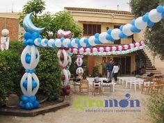 Decoración de bautizo para niños en globos - Imagui