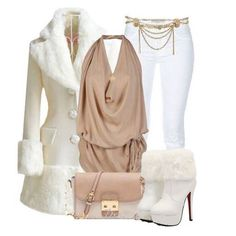 I don't typically like the faux fur look but there is something about this outfit that I love...