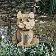 This is your summer house and you are the # Cats main sculptor .-Dies ist dein Sommerhaus und du bist das # Cats Hauptbildhaus Poppy's Holz – katzen This is your summer house and you are the # Cats main picture house Poppys Holz - Wood Log Crafts, Wood Slice Crafts, Diy Wood Projects, Easy Projects, Christmas Wood, Christmas Crafts, Wood Cat, Wood Animal, Wood Logs