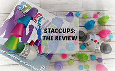 Staccups Review | One Frazzled Mum. Reviewing the Staccups game from University Games. The aim of the game is to stack all your cups first to win!