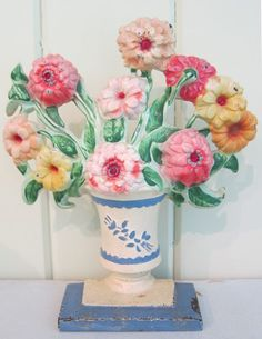 A collection of vintage cast iron Hubley flower door stops shows why this category of collectibles is so enduring. Decor, Home Design Decor, Doors, Cast Iron Doorstop, Vintage Door, Vintage Flowers, Flower Vases, Iron Doors, Door Stops