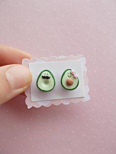 #avocado #earrings #valentinesday Avocado Earrings - Valentines Day Gift for her - Funny Earrings - Vegan Gift - Kids Stud Earrings - Guacamole Earrings - Avocado Studs