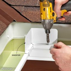 Easy Gutter Fixes: downspouts in the way when mowing? Install a hinge!