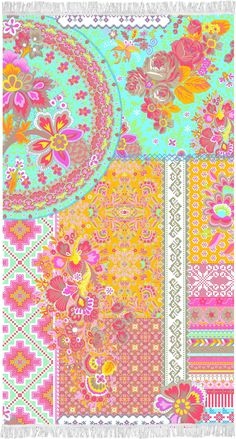 Prosop de Plaja Zalipie Orange - 100x180 cm Modern Beach Towels, Duvet Covers, Kids Rugs, Quilts, Blanket, Sewing, Happy, Fabric, Cotton