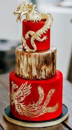 red and gold cake - Поиск в Google