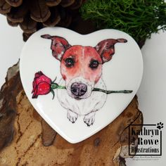 Fridge Magnet, Jack Russell Terrier, Jack Russell, Terrier, New Home, Dog, Birthday Gift, New Home, Birthday, Wedding, Anniversary, Magnet White Terrier, Terrier Mix, Terriers, Watercolour Drawings, Watercolor And Ink, Chihuahua Art, Shelter Dogs, Animal Shelter, Animal Rescue