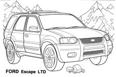 Coloring Page Race Car Racing Pages Eassume To Print Kids Ford Mustang