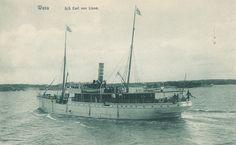 S/S Carl von Linné, rakennettu 1883, uponnut 1948, matkustajalaiva reitillä Vaasa - Uumaja 1900-luvun alussa. Sailing Ships, Boats, Boating, Ships, Sailboat, Boat, Tall Ships