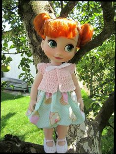 Custom Outfit for Disney Animators Collection doll Anna from Frozen