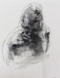 "Derek Overfield, 18 x 24"",  ""Drawing 136"" pastel on paper, 150.00"