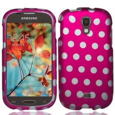 Pink White Dots Rubberized Cover Snap On Case For Samsung Galaxy Light T399 #EmaxCity