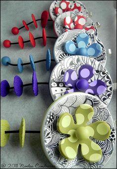 Bijoux en pâte fimo / polymer clay from Noelia Contreras