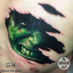 This INCREDIBLE work, @UGInkLondon artists are amazing #UGID #HULK #incredibleHulk #Tattoo #Dublin #Inked