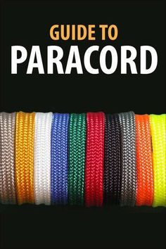 Instructables 14 guides to paracord projects. A great guide to paracord Survival Tips, Survival Skills, Paracord Bracelets, Paracord Ideas, Survival Bracelets, Knot Bracelets, Paracord Supplies, Paracord Tutorial, Thinking Day