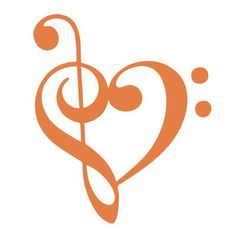 """The Decal Guru Music Heart Wall Decal Size: 48"""" H x 40"""" W x 0.01"""" D, Color: Persimmon"""