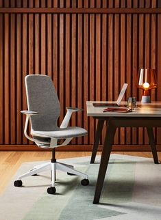 "Looking for a calmer comfort? This Copenhagen-influenced style invites you to sit, feel at home and experience the Danish concept of ""hygge."" Understated and elegant, SILQ fits anyone, anywhere in the workplace. #SILQchair"