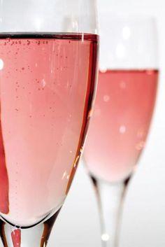 roze champagne... met granaatappelpitjes... jammie