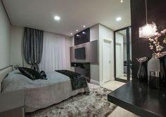 Decoração: quartos em tons de cinza