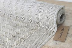 Winter White Geometric Lace