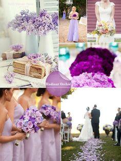 Matrimonio a tema colorato, il Radiant Orchid per il 2014 secondo Pantone