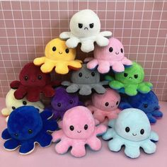 Gold Wire Basket, Little Octopus, Animation Types, Octopus Plush, Animal Categories, Cute Stuffed Animals, Cute Plush, Fidget Toys, Plush Dolls