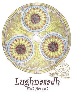 Lughnasadh Mandala by Spiralpathdesigns.deviantart.com on @DeviantArt