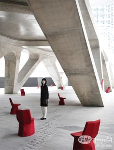 MARS by Konstantin Grcic for ClassiCon - the favourite piece of furniture of Jiyoung Lee, owner of Innen Designworks, Seoul - photographed at Dongdaemun Design Park & Plaza by the architect Zaha Hadid Zaha Hadid, Seoul, Mars, Korea, Chair, Beach, Furniture, Design, March