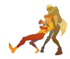 Kid Flash and Artemis. I ❤️ them