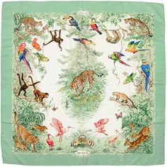 HERMES SCARF Silk Equateur by Robert Dallet 90cm Carre by EXANYC