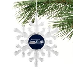 Seattle Seahawks Snowflake Ornament - I got this for my Seahawks themed tree, it's a good addition! ;)