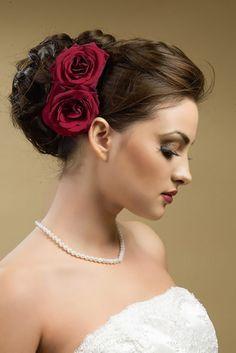flowers wedding asian hair - Google Search