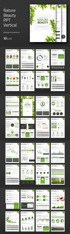 Nature Beauty PPT Vertical. Infographic Elements. $41.00