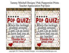 pop quiz free teacher appreciation printables and gift ideas  www.pinkpeppermintprints.com