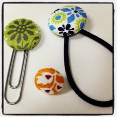 Ah... The versatile cover button! #paper clip #earring #hairband - @dritz_sewing- #webstagram
