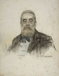 Salvador_Sanpere_i_Miquel by Ramon Casas Fine Art Drawing, Guy Drawing, Drawing Sketches, Painting & Drawing, Art Drawings, Ramones, Modernisme, Toned Paper, Spanish Artists