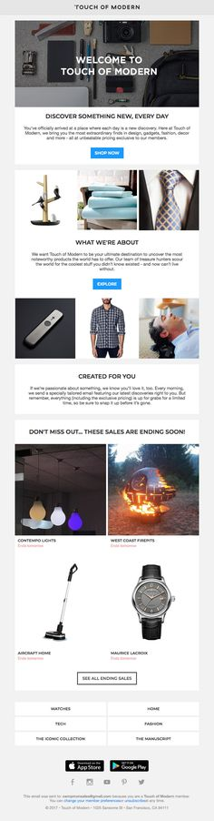 Subject Line: Welcome to Touch of Modern Email Marketing, Digital Marketing, Welcome Emails, Email Design, Touch, Modern, Inspiration, Biblical Inspiration, Trendy Tree