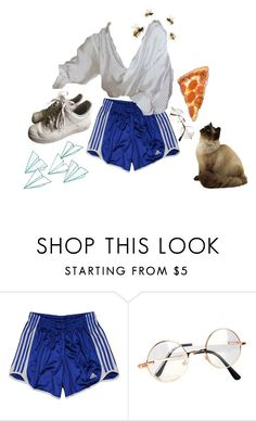 """Striped"" by van-gogh-kid ❤ liked on Polyvore featuring adidas, Retrò and NIKE"