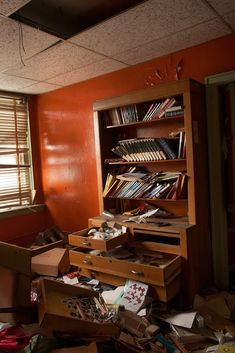 Horace Mann School, Kansas City, MO - Teacher's offices were also crammed with staff handbooks, tests, and office supplies.