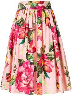 Dolce & Gabbana floral circle skirt