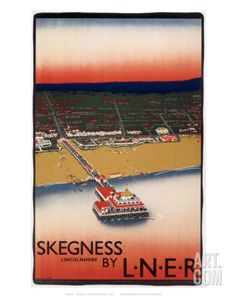 'Skegnes, Lincolnshire', LNER poster, c Purvis, Tom Posters Uk, Train Posters, Railway Posters, British Travel, Holiday Places, Beautiful Posters, Beaches In The World, Beach Landscape, Vintage Travel Posters