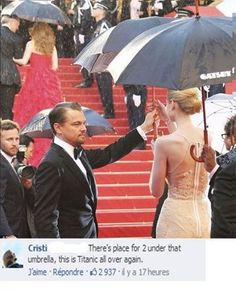 The Memes Factory  There's place for 2 under that umbrella, this is Titanic all over again.